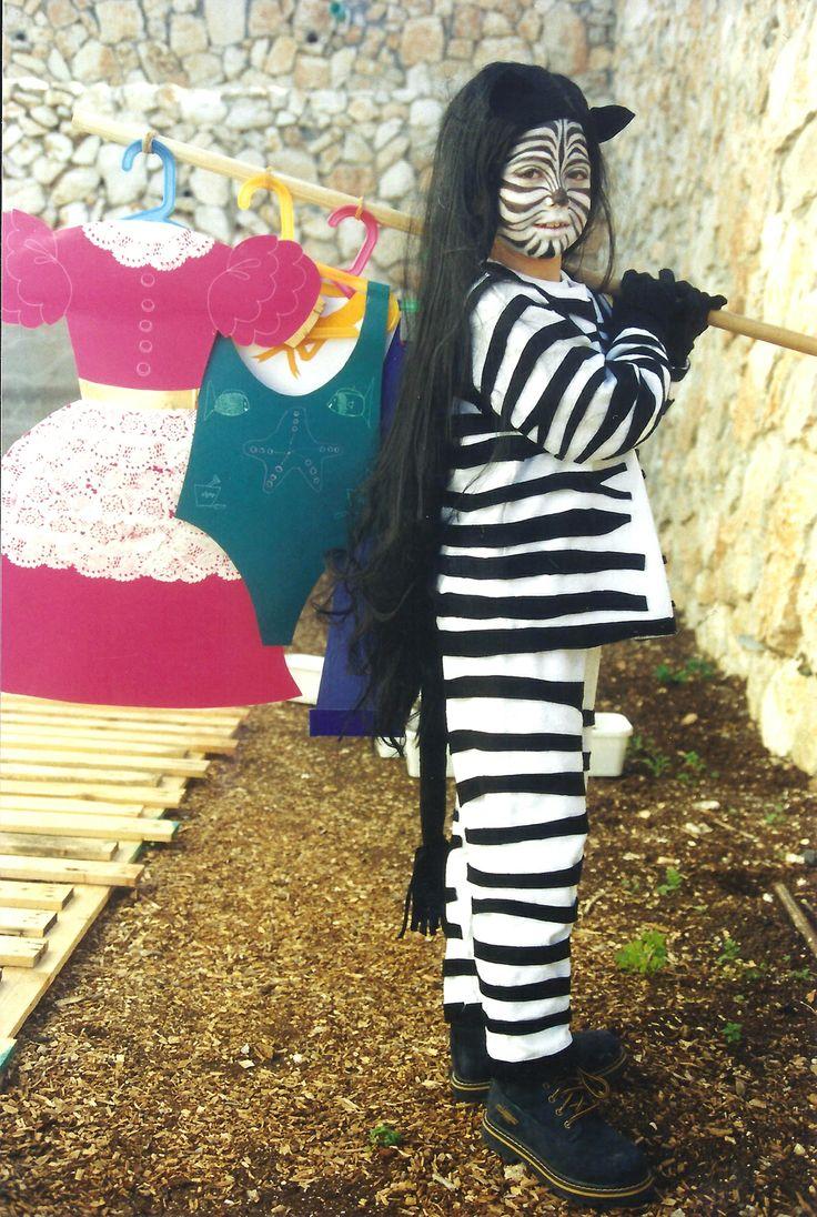 Homemade Zebra Costume For Kids