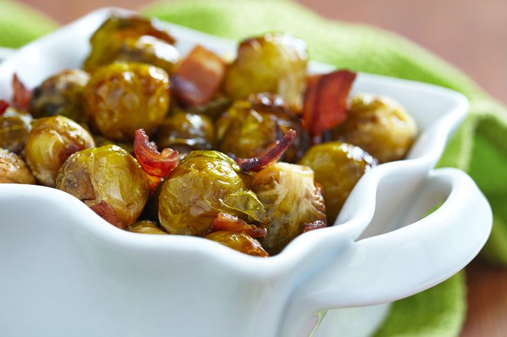 Roasted Brussels Sprouts With Bacon | Side Dishes | Pinterest