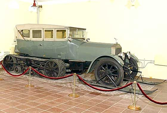 OLDE STARS AND THEIR FANCY CARS - LENIN'S 1922 ROLLS ROYCE SILVER GHOST - SNOW TRAX AND FRONT SKI'S
