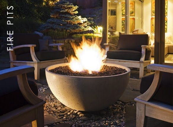 Outdoor gas fire pit bowl wave34 board pinterest for Outdoor fire bowl