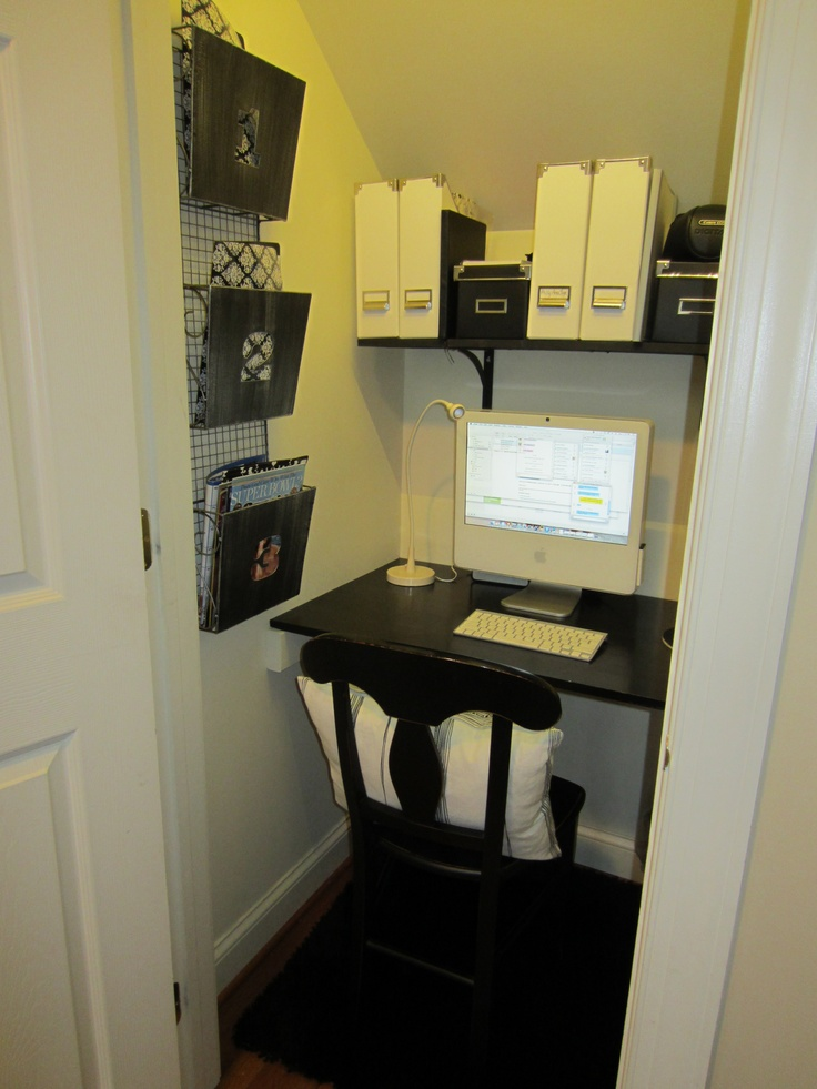 Under the stairs closet For My Office Pinterest