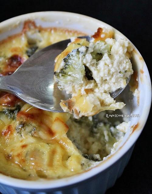 crustless broccoli cheddar quiche-- Martha Stewart