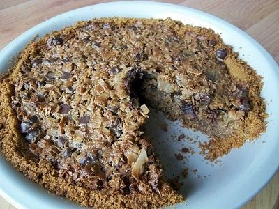 Chocolate Chip Oatmeal Pie | pies and cobblers | Pinterest