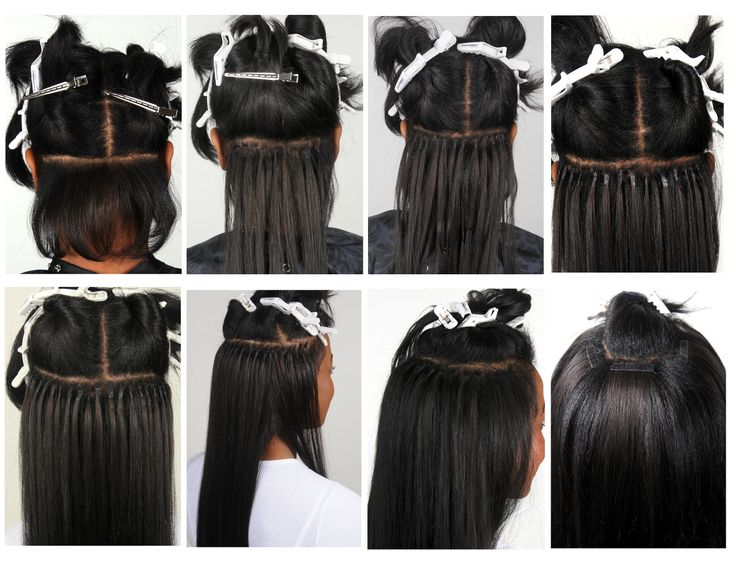 Placement Of Tape Hair Extensions Triple Weft Hair Extensions
