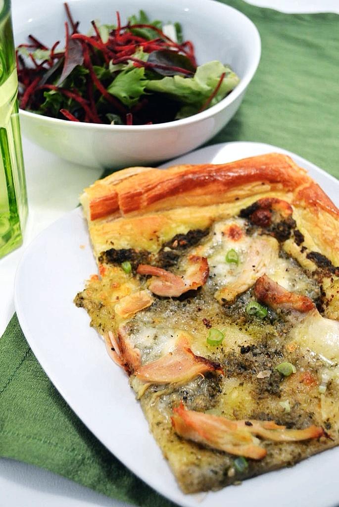 Pesto Chicken Tart | for eating | Pinterest