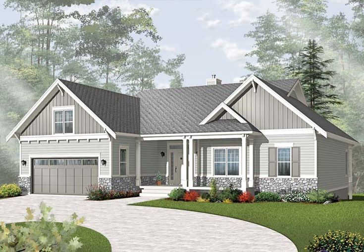 country craftsman house plan 76295