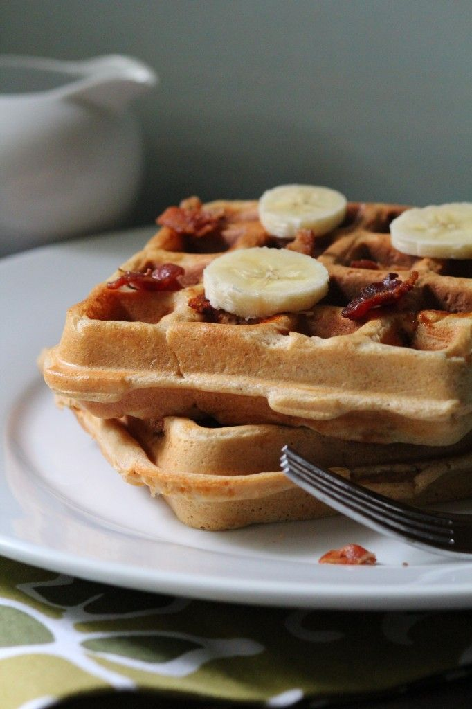 Whole Wheat Elivis Waffles (Peanut Butter, Banana and Bacon)! @Pidge's ...