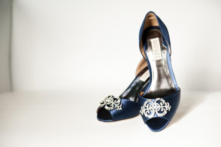 navy blue wedding shoes