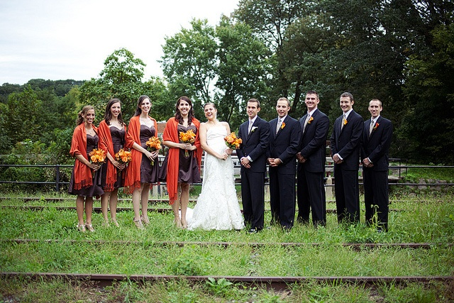 Lambertville was a great location for this fall wedding.