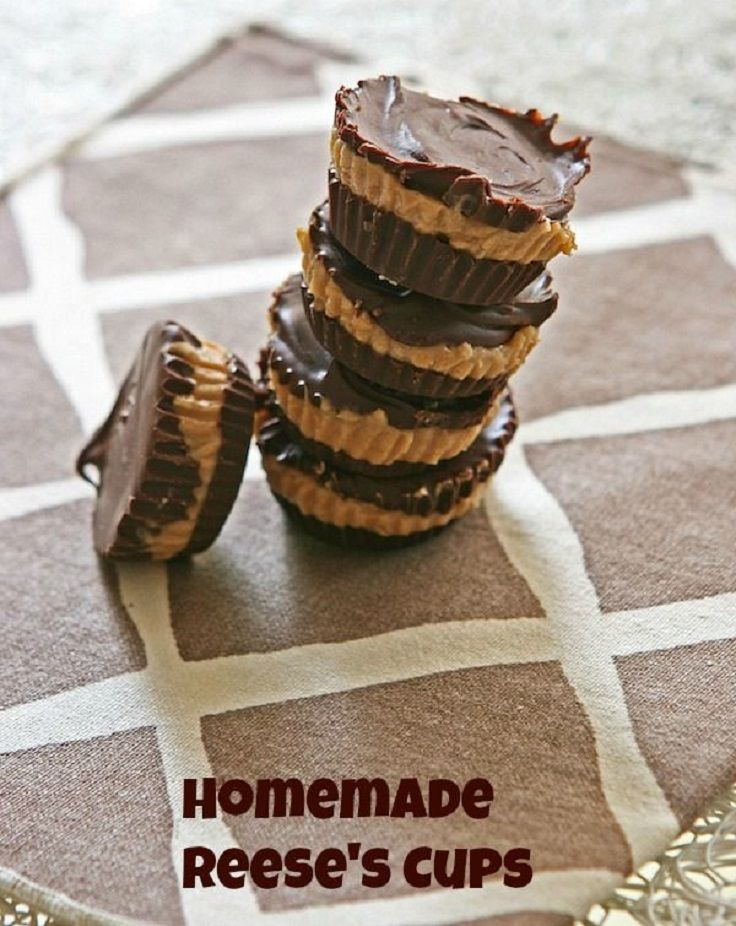 Homemade Reese's Cups with Peanut Butter | recipes to try ...