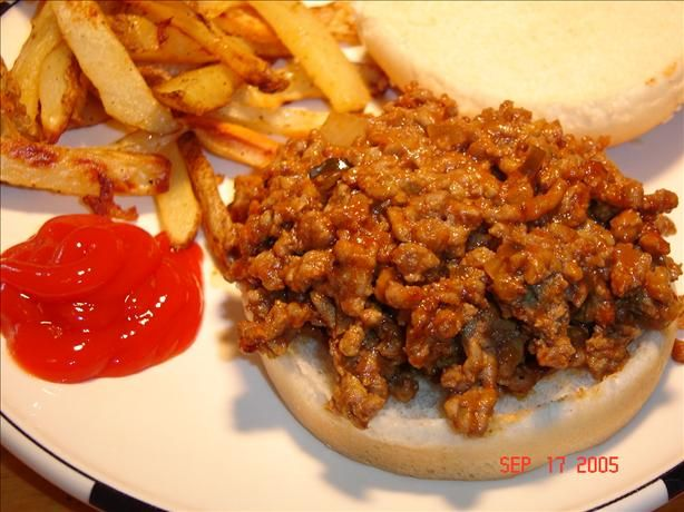 Sloppy Joes-- This recipe is one of the best sloppy joes I have made ...