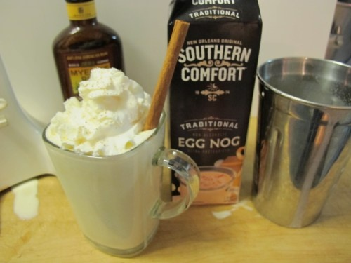 spiked nog milkshake | Concoctions by Moi | Pinterest