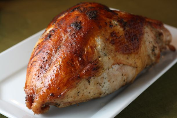 ... Dinner...Thanksgiving in August...yum Herb Roasted Turkey Breast