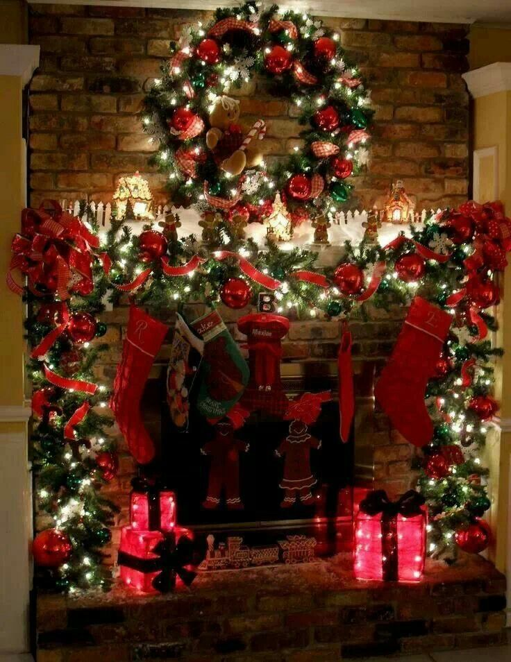 Beautiful mantle | CHRISTmas | Pinterest
