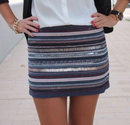 Zara Aztec Skirt Ebay 90