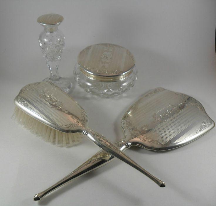Vintage Birks Sterling Silver Vanity Dresser Set Hand