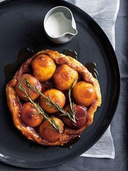 Peach & Rosemary Tarte Tatin with Runny Cream