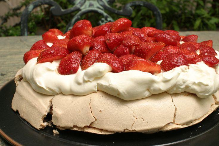 Strawberry Pavlova Recipe — Dishmaps