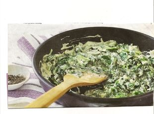 Creamed Spinach - love, and put it with ham and eggs - even yummier