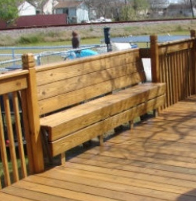 Bench Incorporated Into Deck Railing My Style Pinterest