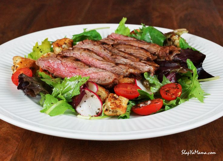 Slap Ya Mama's Skirt Steak Salad Recipe | Healthy foods | Pinterest