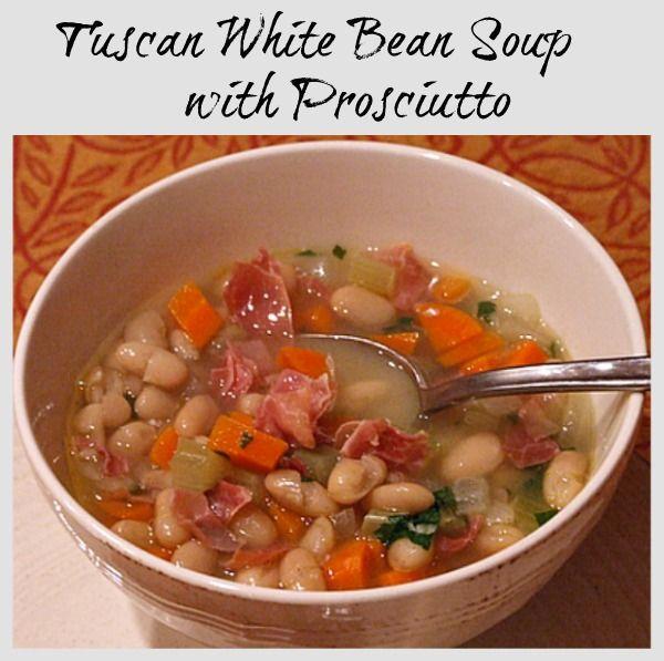 Tuscan White Bean Soup with Prosciutto | Recipe