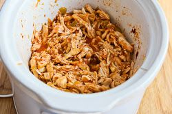 ®: Slow Cooker Recipe for Spicy Shredded Chicken Lettuce Wrap Tacos ...