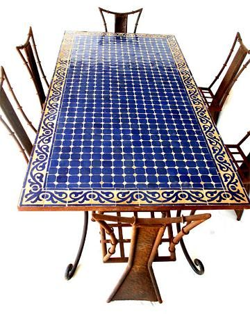 Moroccan Dining Mosaic Table For Laundry Table Maybe Use Same Tile