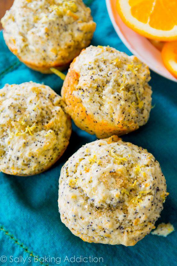 Orange Lemon Poppy Seed Muffins - moist, sweet, and full of citrus ...