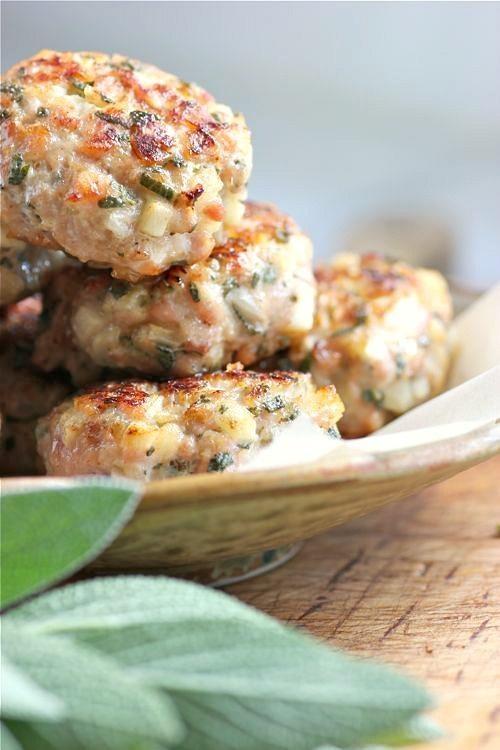 Chicken, apple and fresh sage sausage patties