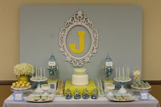 blue grey yellow baby shower baby parties showers and gifts pi