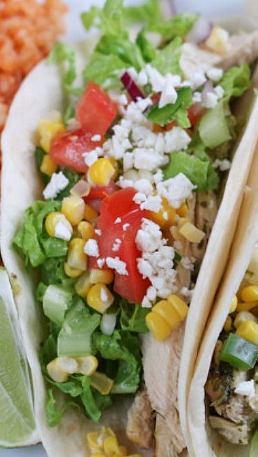 Grilled Lime Chicken Tacos with Corn Salsa