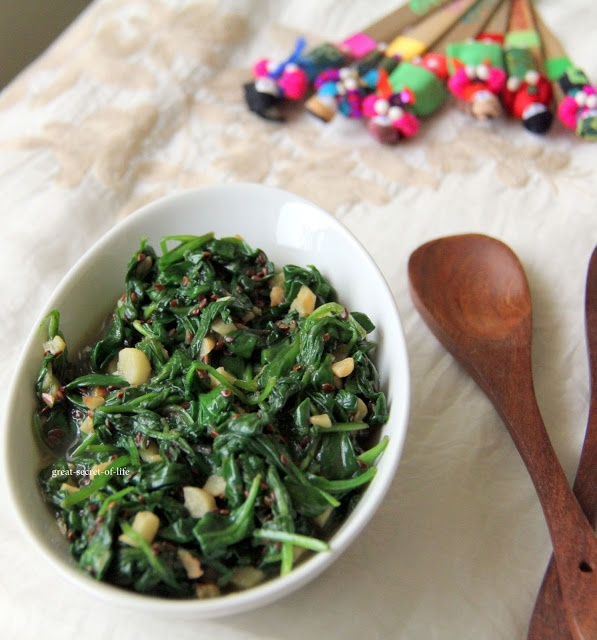 Spinach Garlic with Sesame Seeds | Healthy Recipes | Pinterest