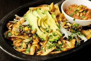 Chilaquiles with Pepitas, Charred Corn, and Black Beans | Creative ...