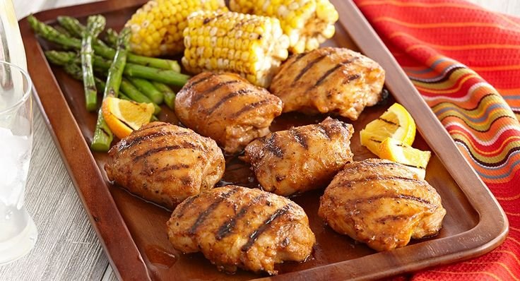 Grilled Chipotle Orange Chicken: Boneless chicken thighs get a little ...