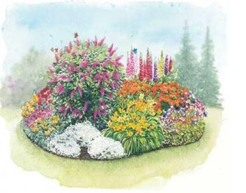 Perennial Flower Garden Design Garden Pinterest - flower garden plans and layouts