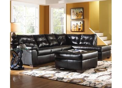 Badcock Addison Black Sectional