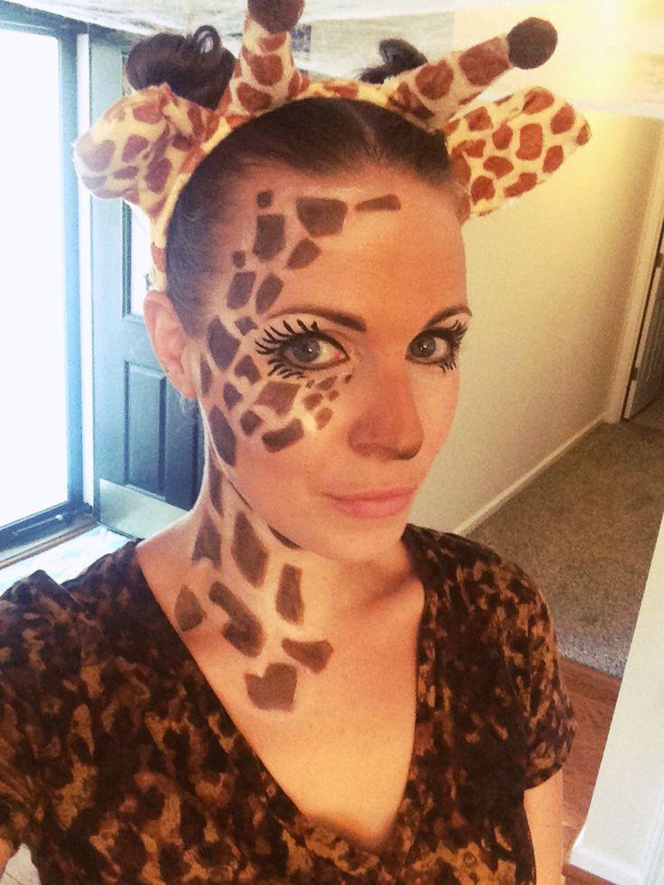 Giraffe costume makeup