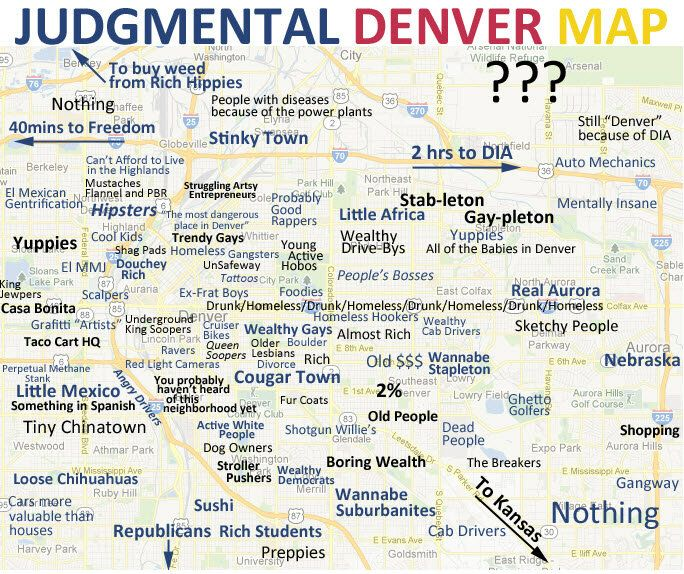 This Is The Best Judgmental Denver Map