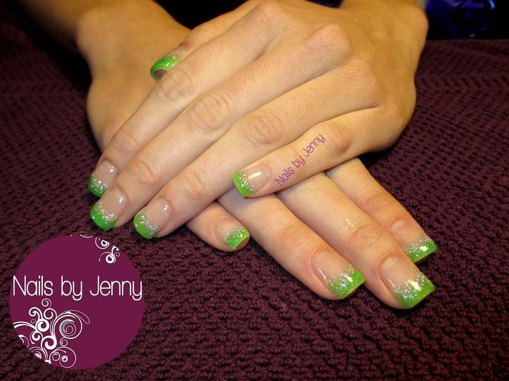 Gel Backfill with Glitter Smile Line -- Nails by Jenny in St. George