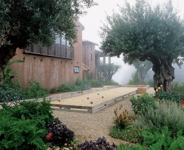 Bocce court edge all things sports pinterest Garden design games