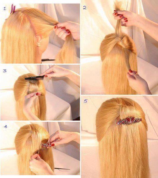 tuto coiffure cheveux mi long 4 cheveux pinterest