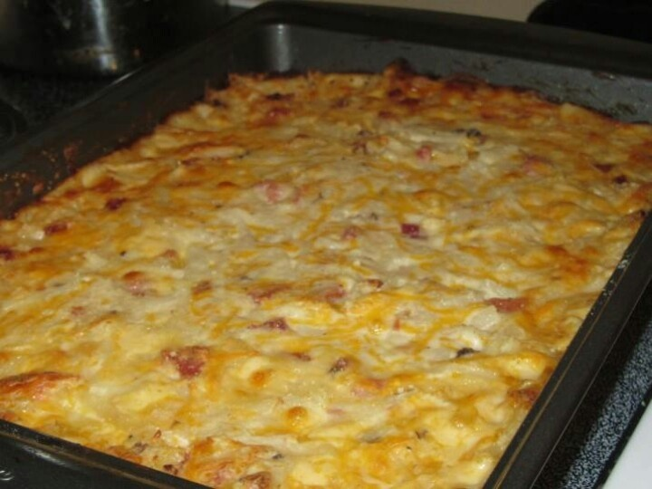 Cheesy hash brown and ham casserole | Warm & Cozy Casseroles | Pinter ...