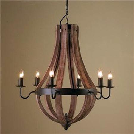 Wine Barrel Chandelier Home Lightning Feature Pinterest