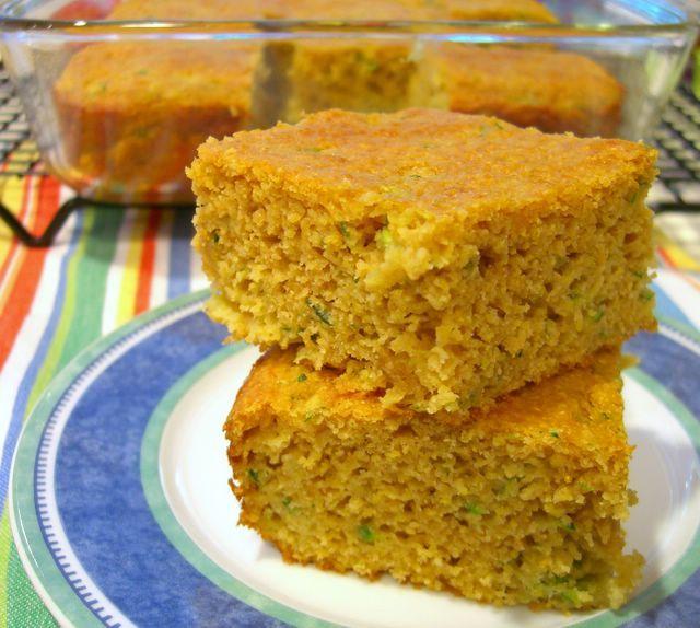 Zucchini Cornbread ~ Baking Bites | kitchen Art | Pinterest