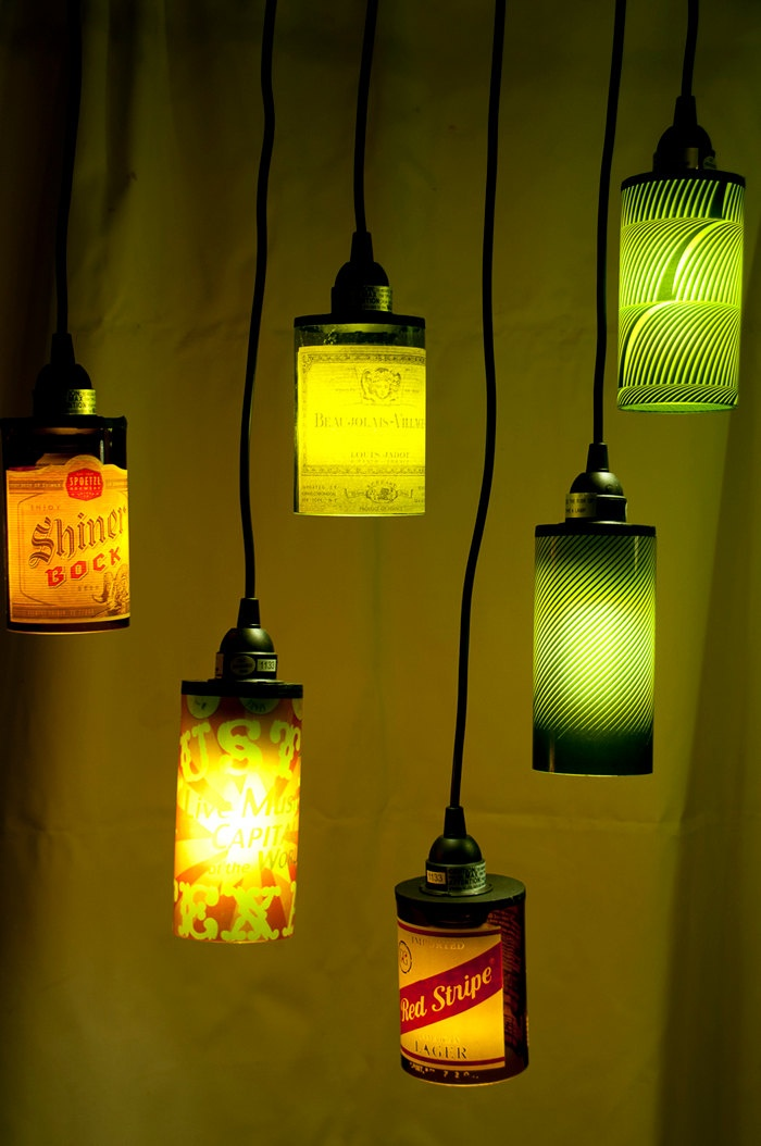 Lamps made from wine bottles my miscellaneous pinterest for Things made from wine bottles