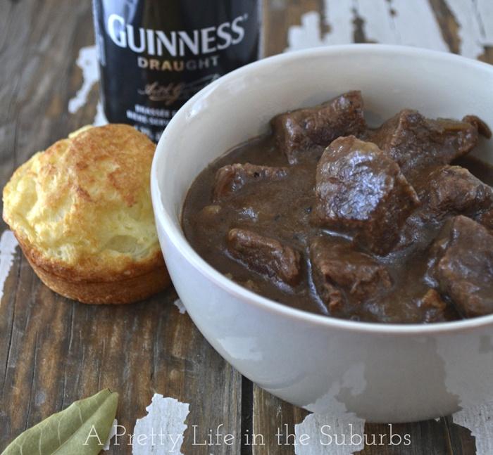 Guinness Braised Beef (sirloin, flour, oil, garlic, onion, beef stock ...