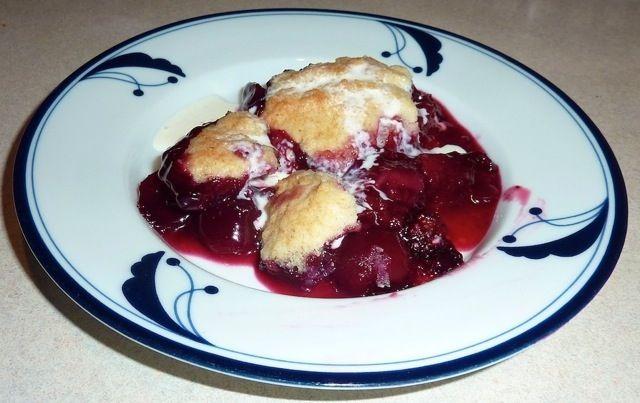 Blueberry Plum Cherry Cobbler | Favorite Recipes | Pinterest