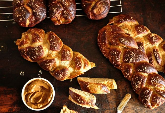 Pretzel Challah with Adobo-Lime Butter | Delicious Food & Drinks | Pi ...