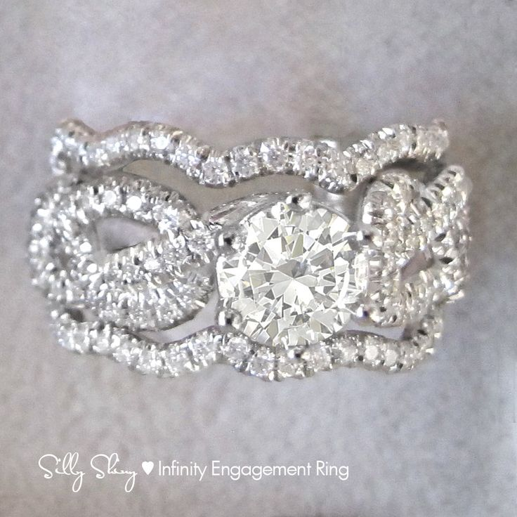 115 ct infinity knot engagement ring with 2 wedding